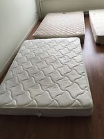 Free 2 double size mattress and 1 queen size box spring