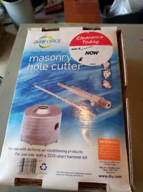 Hole cutter for masonry.