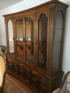 Dining set - table, chairs, buffet and hutch