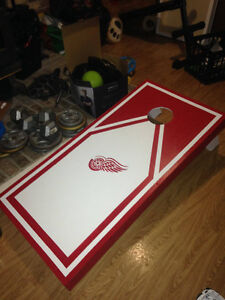 Home Made Red Wings Regulation Corn Hole Board Windsor Region Ontario image 1