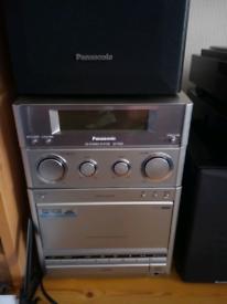 Panasonic CD stereo system.