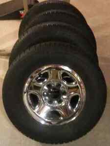 255 70 16 Snow Winter Tires and Rims