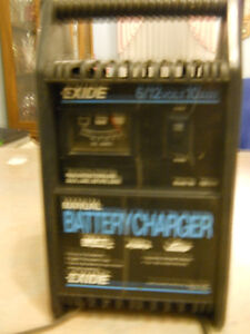 Battery Charger Exide  6/12 volts 10 amp