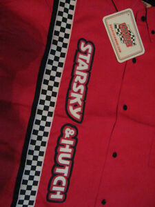 STARSKY & HUTCH NASCAR RACE CAR SHOW DRESS SHIRT