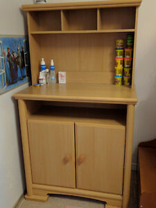 SOLD Change table with hutch / storage London Ontario image 1