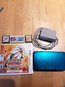 Nintendo 3DS with 6 pokemon games