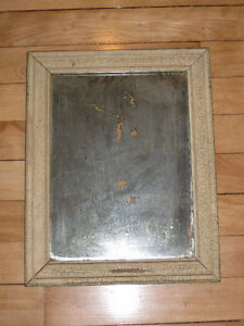 Antique Mirror with natural crackled paint patina