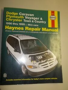 Haynes repair manual for Caravan, Voyager, Town & C 1996 to 1999