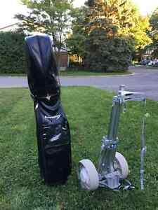 Golf set for lefties, bag & cart