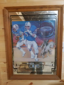 Vintage HOUSTON OILERS NFL Mirrored Picture