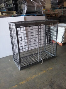 painted steel cages for locking items up