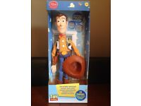 Toy story taking woody, box, batteries