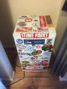 Cool mini refrigerator for sale, hardly used