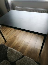Ikea black desk