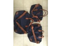 Chapman Canvas and Leather Luggage Set - Top Quality English Made Brass Zips and Fittings