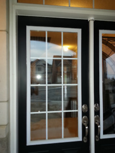 Glass inserts for entrance door