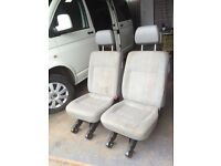 VW T5 two removable floding rear single seats with one set of fitting kit