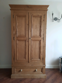 Solid Quality Double Pine Wardrobe