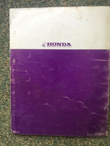 Honda XR75 Shop Manual Regina Regina Area image 4