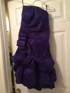 Med purple dress from le château worn once Peterborough Peterborough Area image 2