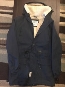 D-Struct Fleece Lined Navy Parka Jacket (brand new with tags)