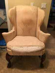 Wing Back Chair for Project!