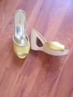 Size 7 wedge heels and sandals.
