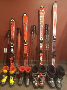 Ski alpin enfant + planche à neige