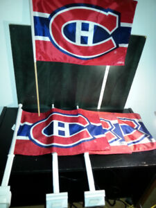 5 NHL HABS MONTREAL CANADIENS FLAGS