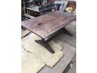 Antique oak dinning table
