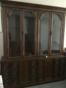 Hutch,Dining table,tv entertainment unit, Double bed and dresser