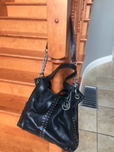 Michael Kors Black Astor Leather Bag