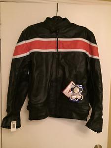 NEW Leather Motorcycle Jacket-Veston pour motocyclette NEUF