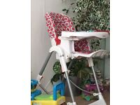 Baby high chair in excellent condition RED KITE