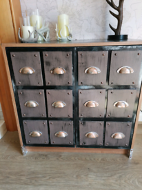 Upcycled industrial style cupboard