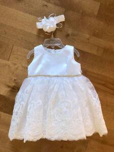 NEW White Dress for Christening, Baptism, Wedding, Flower Girl