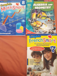 French and Math books