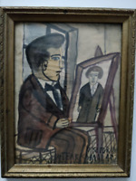 Nikifor Krynicki Polish Primitive Painter Self Portrait