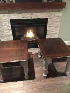 Refinished coffee and end tables