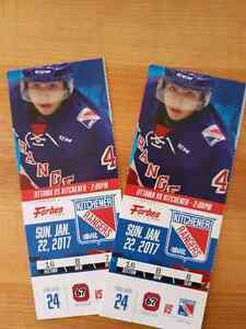 Jan 22nd Kitchener Ranger tickets