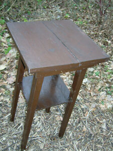 1940s plant stand brown painted wood