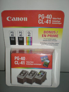 Genuine Canon PG-40/CL-41 Ink Cartridge Photo Value Pack
