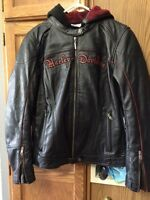 Women's 3in1 leather Harley Davidson jacket size large