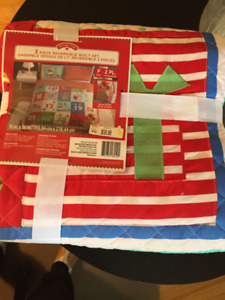 CHRISTMAS QUILT - DOUBLE SIZE - NEW WITH 2 SHAMS