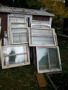 Antique 2 pane windows