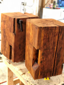 Large Barn Beam Block Side Table 100 year Old