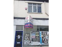 Shop to let with 1st floor flat
