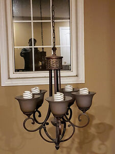 Beautiful 5 bulb Chandelier