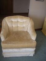 2 swivel tub chairs