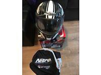 Nitro motorcycle crash helmet